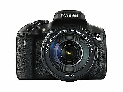 Canon EOS 750D Digital SLR Camera with 18-135mm IS STM Lens