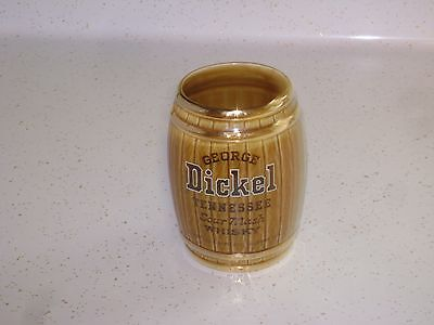 Vintage George Dickel Whisky Advertising Ceramic Barrel- Swizzle Stick Holder