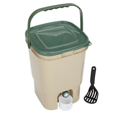 23L SQUARE BOKASHI COMPOSTER KIT, Compost Bin with Handle, Kitchen Waste,