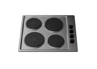 Kitchenplus 4 Zone Electric Hob Stainless Steel 60cm