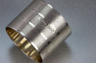 Very Large Heavy Sterling Silver Engine Engraved Napkin Ring 1922 55 Grms