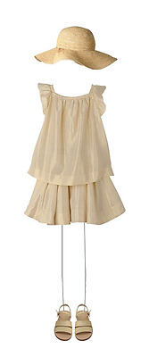 Bonpoint Baby Girls Gold Elise Blouse And Solina Skirt Set 4 Years