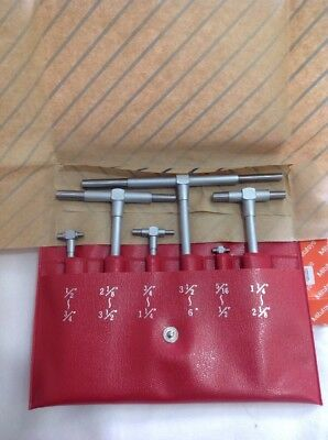 "NEW Mitutoyo 155-903 6 Piece Telescoping Gage Set 5/16"" to 6"" / .313-6"""