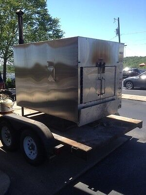 Ole Hickory Pits 2008 Model EL Commercial BBQ Smoker with Trailer