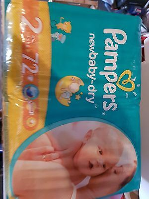 Pampers New baby dry. Taille 2. 72 pcs