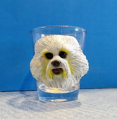 I LOVE MY BICHON FRISE Dog Shot Glass nwt never used
