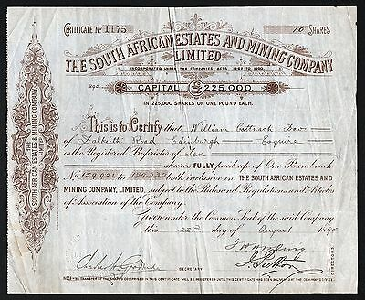 1895 South Africa: The South African Estates and Mining Company Limited