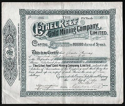 1898 New Zealand: The Ethel Reef Gold Mining Company, Limited - 6480 shares