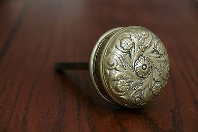Antique Bronze Door Knob with Spindle. Circa-1880s- Hardware