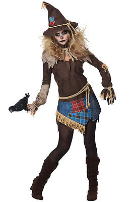 Brand New Creepy Scarecrow Women Adult Costume
