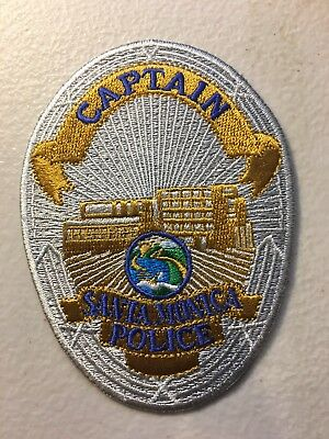 Santa Monica California Police Department Captain Patch Ca