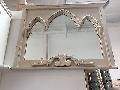 Handmade Beautiful Antique and Vintage Mirror w Stained Finish