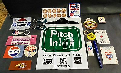 Lot of Mostly Vintage Pepsi Cola Items