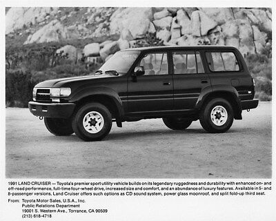 1991 Toyota Land Cruiser Truck Factory Photo ca8108