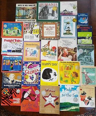 Lot of 25 Caldecott Medal Honor Children's Picture Books