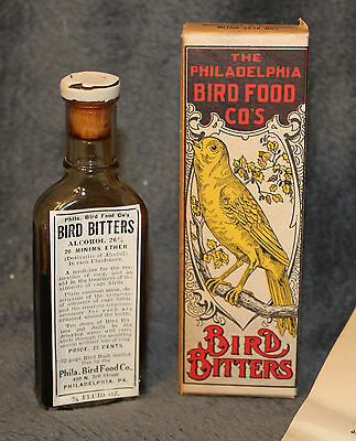 Vintage Philadelphia Bird Food Co. Bird Bitters  NOS