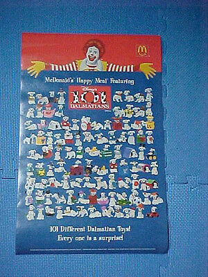 McDONALD'S HAPPY MEAL POSTER 101 DALMATIONS PUPPY LOVE