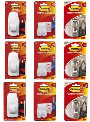 3M Command Damage-Free Hanging Hooks Buy 2 or More Get 15% OFF