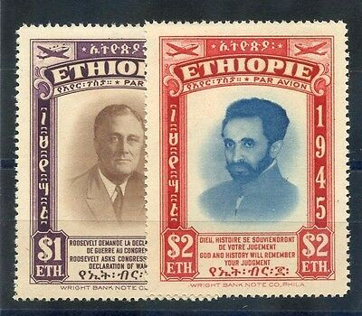 ETHIOPIA Sc C21-2(MI 233-4)**VF NH AIRMAIL SET $165