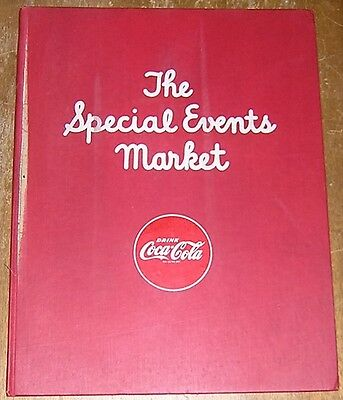 Vintage 1948 Coca Cola Distributor's Book Your Special Events Market Elephants!
