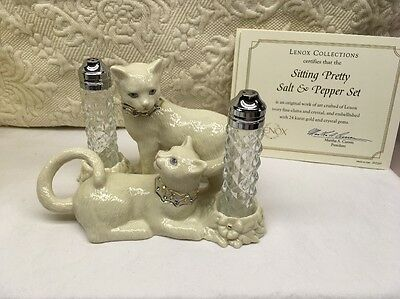 Lenox Sitting Pretty Cat Salt And Pepper Set