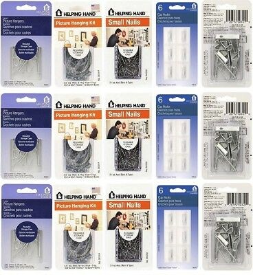 Helping Hand Hanging Kits, Nails, Hangers, Hooks YOU CHOOSE Buy 2 Get 15% OFF