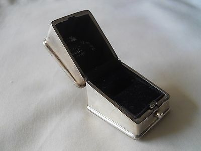 Antique English Sterling Silver Ring Box