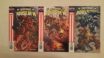 Marvel Comics IRON MAN - HOUSE OF M (2005) #1-3 full set