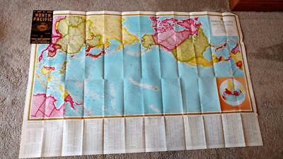 LARGE 1939 Fold Out Map In Folder NORTH PACIFIC Kroll Map Company Seattle WASH
