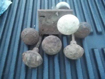 Vintage Estate Find Metal Porcelain Door Knob Lot