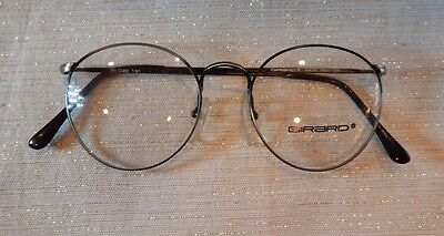 Vintage Girard 4434 Pewter 51/20 P3 Round Made Japan Eyeglass Frame NOS