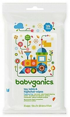 Babyganics 25-Count Toy, Table and Highchair Wipes