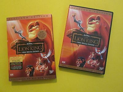 The Lion King 2-Disc Set Platinum Edition With Slipcase Disney DVD