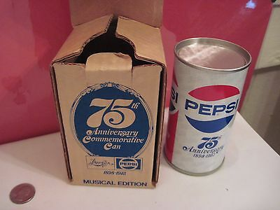 75th Anniversary Comm. Pepsi Can Musical Edition Music Box 1973 Pepsi Cola