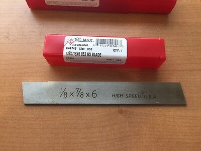 Cleveland Mo-Max HS Cut Off Blade C44746  1/8 X 7/8 X 6  Parting Tool  Lathe USA
