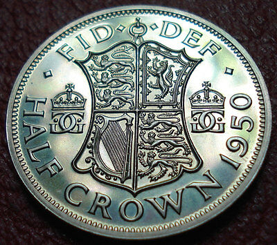 Proof 1950 British Half Crown (Only 18,000 Minted)