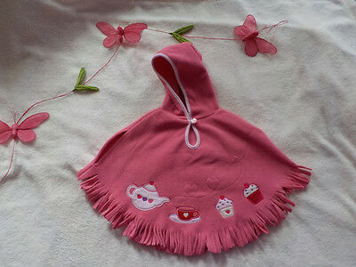 poncho cupcake taille 6-12 mois