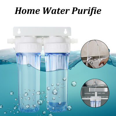 Home Purifier Dual Reverse Osmosis RO Active Carbon Water Filter For 1/2'' Pipe