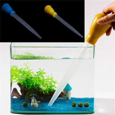 Aquarium Mini Pipette Dropper Fish Tank Clean Coral Target Feeder Gravel Straw