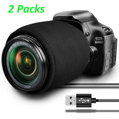 2 x USB Digital Camera Lens Dew Warmer Universal Telescope Scopes Heater Strip