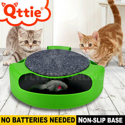 Kitten Cat Toy Electronic Rotating The Mouse Chase Interactive NEW OZ