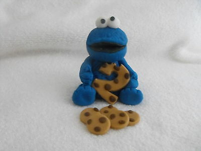 Cake Topper Fondant Sesame Street  Cookie Monster and cookies