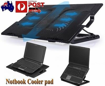 LED USB Port Cooling Pad FAN Cooler for DELL Alienw 12''-17'' TOSHIBA Laptop PC