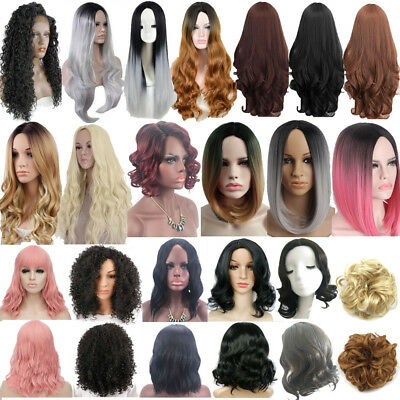 Women's Long/Short Straight Curly Wavy Full Wig Hair Party Ombre Cosplay Wigs