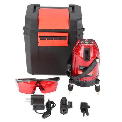 Waterproof 360° Self Leveling  Rotary Laser Level Measure Kit 5Line 6Point 4V 1H