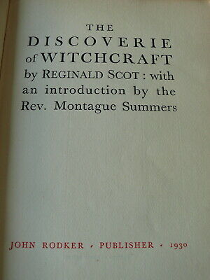 The Discoverie of Witchcraft. Reginald Scot. 1930. Ltd Edition.
