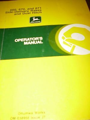 John Deere 660, 670, 670 Side-Delivery Rakes & Dual Hitch Operator's Manual