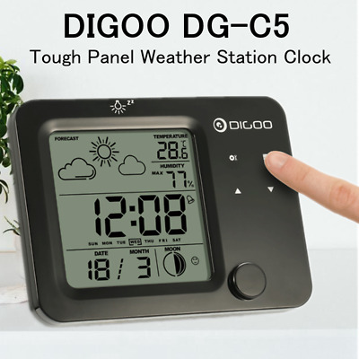 Digoo Hygrometer Thermometer Touch Sensor Weather Forecast Station Clock Backlit
