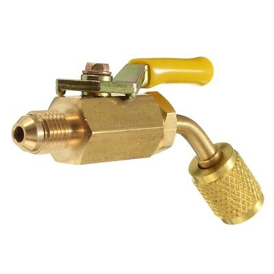 R410a R134a Brass Shut Valve For A/C Charging Hoses HVAC 1/4inch AC Refrige T1T5