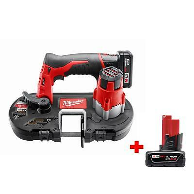 12 Volt Lithium Ion Cordless Sub Compact Band Saw Kit 6.0ah Battery Power Tool